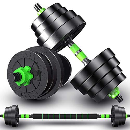 WSA Kurzhanteln Hantel, Anfänger-Fitness-Heim, EIN Paar einstellbares Gewicht 33 Pfund Langhantel-Set