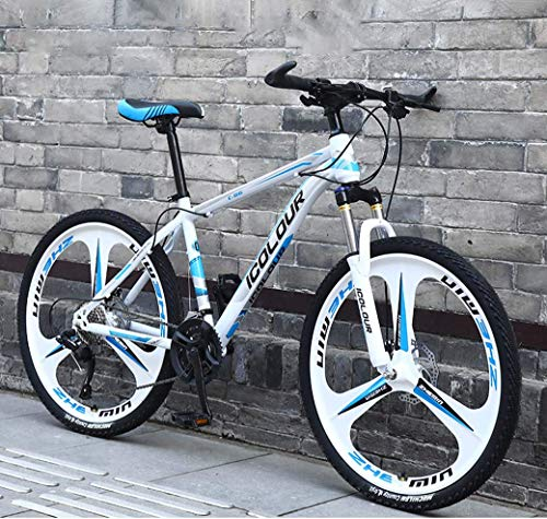Bicicleta de montaña de 26'y 24 velocidades para Adultos Ligero Aluminio Suspensión Completa Marco Suspensión Horquilla Freno de Disco