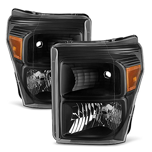 ACANII - For Blk 2011-2016 Ford F250 F350 F450 Super Duty Headlights Signal Lamps Driver + Passenger Side