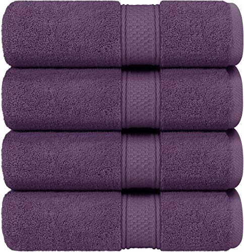 Utopia Towels - Bath Towels Set, Plum - Luxurious 700 GSM 100% Ring Spun Cotton - Quick Dry, Highly Absorbent, Soft Feel Towels, Perfect for Daily Use (4-Pack)