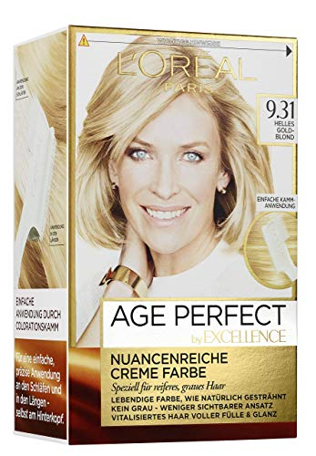 L'Oréal Paris Excellence Age Perfect 9.31 helles goldblond 1er Pack (1 x 1 Stück)