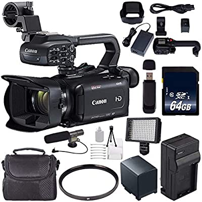 Canon XA11 Compact Full HD ENG Camcorder #2218C002 + 64GB Memory Card + BP-820 Replacement Lithium Ion Battery Bundle from Canon