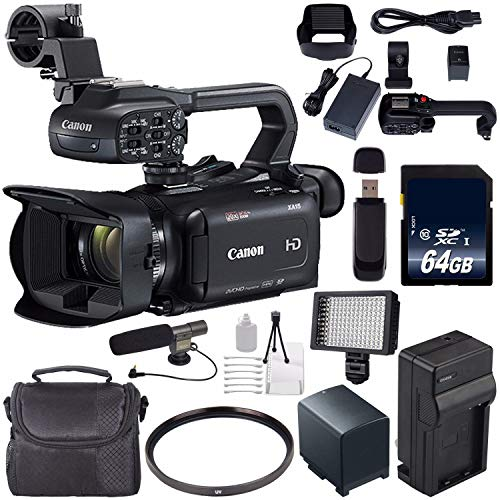 Canon XA11 Compact Full HD ENG Camcorder #2218C002 + 64GB Memory Card + BP-820 Replacement Lithium Ion Battery Bundle