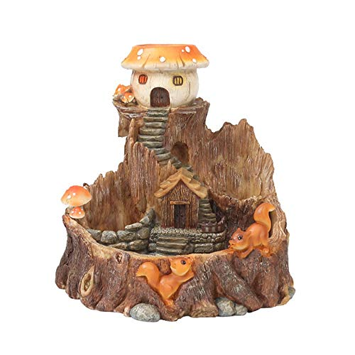Ganeep Tree House Pot Mini Hut Plante Flowerpot résine Planteur Main Beau Shaped Plantes Succulentes Pot American Style Mignon Micro Bonsai Usine avec Drainage Trou Décoration d'intérieur