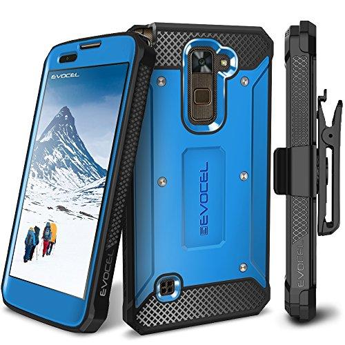 LG Stylo 2 / LG Stylo 2 Plus/LG Stylo 2 V Case, Evocel [Explorer Series] Premium Full Body Case with Rugged Belt Clip Holster for LG G Stylo 2 / LG Stylo 2 V/LG G Stylo 2 Plus, Blue