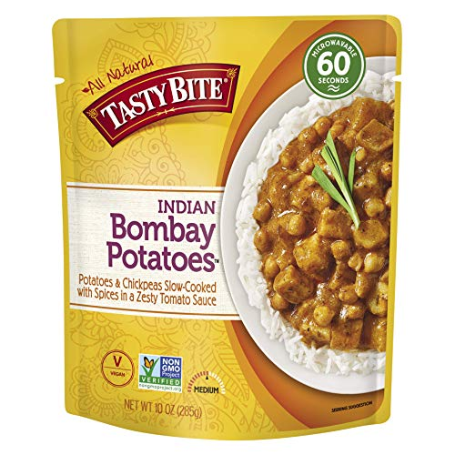 Tasty Bite Indian Bombay Potatoes, Microwaveable Ready to Eat Entr