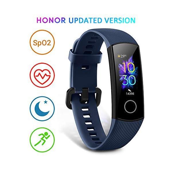 HONOR Band 5 smartwatch,Pulsera de Actividad Inteligente Reloj Impermeable IP68 con Pulsómetro,Monitor de Actividad… 1