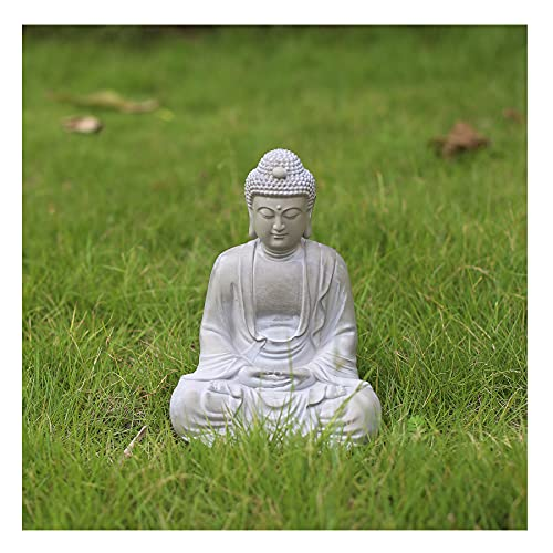 Poitemsic 10' Tall Meditating Buddha Statue Zen Spiritual Buddha Figure Ornament for Outdoor Garden Patio Yard Home Meditation Decoration Room Housewarming