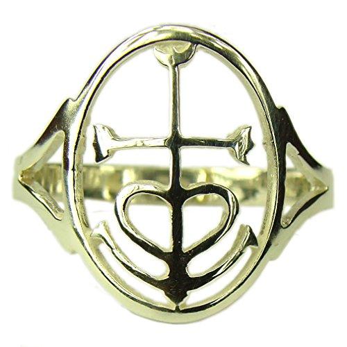 Recuerdos de Francia–anillo de cruz de la camarga