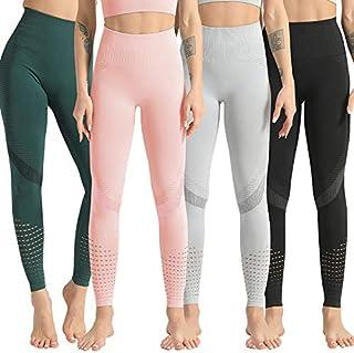 Lixada Fashion Women Yoga Leggings Seamless High Waist Running Climbing Fitness Sport Tihgts Yoga Pants