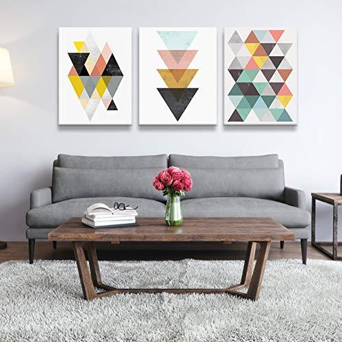 ZEMER Fbewan Mural Cuadros En Lienzo Moderno Simple Geométrico Abstracto Nórdico Estilo Sala De Estar Decoración De La Casa Imagen Sin Marco