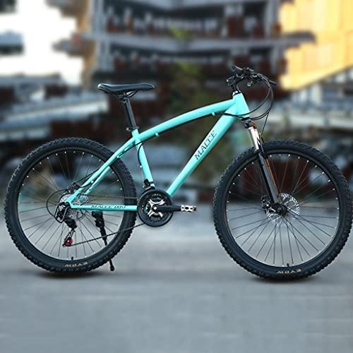 Bicicleta de montaña Mountainbike Bicicleta Bicicleta de montaña 26 pulgadas de hombres y mujeres 21/24/27 Velocidad de montaña Bicicleta, acero al carbono simple bicicleta de doble suspensión MTB Bic