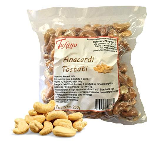 Anacardi al Naturale - Frutta Secca Sgusciata Qualità Premium, Anacardi Tostati Non Salati, Senza Conservanti, Ideali per Aperitivi, Snack, Cucina, Mu