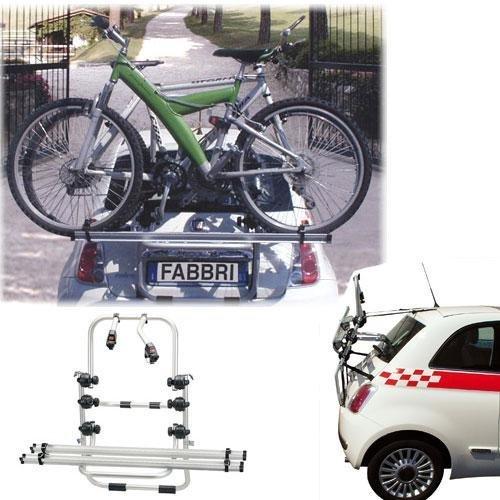 BB-EP/Fabbri Einfacher Fahrrad-Heckträger 90308789 zum Transport von 3 Rädern auf der Heckklappe für Peugeot 2008 - inkl. Adapter und Montagesatz