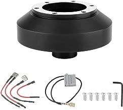 Acouto 6-Hole Bolt Ball Steering Wheel Quick Release Hub Adapter Boss Kit For 350Z 370Z Amada Versa