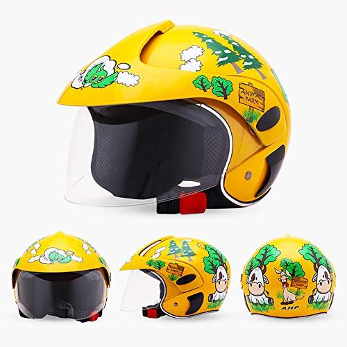 Fietshelm voor kinderen met afneembaar vizier voor magneetbrillen, instelbare mountain- en racefietshelmen, veiligheidsbescherming en ademend C-1