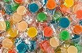 Tiras de surtido de gomas redondas La Asturiana - Gomitas de alegres colores en flow pack, en cajita de 24 tiras, sin gluten