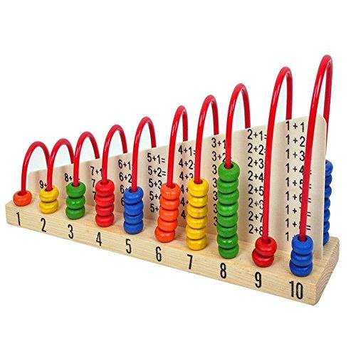 Boulier d'enfant - SODIAL(R)Jouets en bois d'enfant Abacus comptage Maths perles jouet educatif d¡¯apprentissage