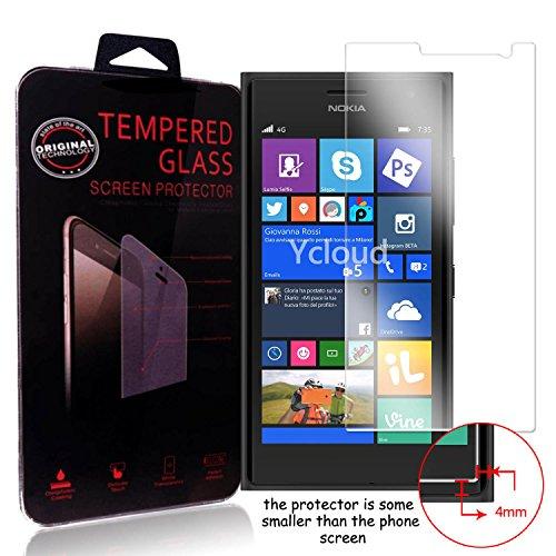 Ycloud Pellicola Protezione di schermo per Nokia Lumia 735 in vetro temperato Ultra Resistente Protezione Esterna Durezza 9H (0,26mm HD Transparent High)