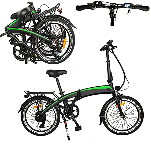 Bicicleta Elctrica Plegables Bicicleta Electrica Plegable Urbana Neumáticos de 20 Pulgadas Bicicletas urbanas eléctricas Bicicleta de Ciudad con 3 Modos de conducción Bicicleta Unisex
