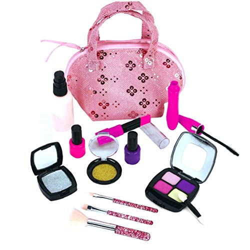 Children's Cosmetic Set Portable Makeup Suitcase Fashion Safe Pretend Play Props Interactive Educational Toy for Girls