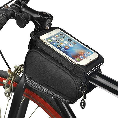 Borsa for telaio da ciclismo,borsa for tubo sterzo,telaio for tubo anteriore superiore Borsa laterale for borsa doppia Borsa for borsa for Ios Android Google Nexus e altri telefoni cellulari da 5,7'
