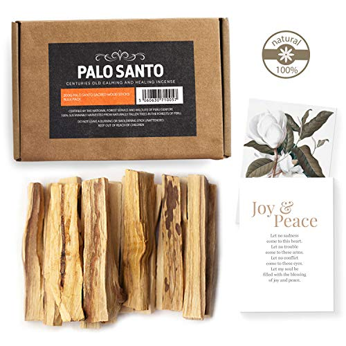 Aashram Premium Edición de 200g de Ramas de Palo Santo -Ramas robustas con fragancia de madera de Palo Santos cosechadas ecológicamente en Perú para yoga, meditación, relajación, limpieza y curación.