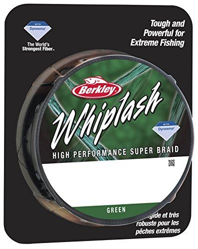 BERKLEY Unisex's Whiplash Braid-Green, 100 lb