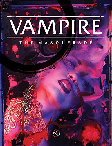 Modiphius Entertainment Vampire: The Masquerade 5th Ed. RPG for Adults, Family and Kids 13 Years Old and Up (Hardback, Full Color RPG)