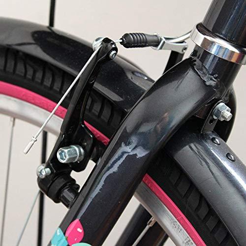 TOBWOLF 2PCS Bike Brakes, Aluminum Alloy Rim Brake with Brake Pads & Spring Tension Adjuster, Mountain Bicycle V Brake Caliper Set Replacement for Most Bicycle, Road Bike - Black