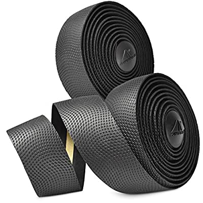 MARQUE Pro Bike Handlebar Tape – Road Cycling Bicycle Padded Handle Bar Wrap with Non-Slip Grip for Drop Bars – 2PCS per Set