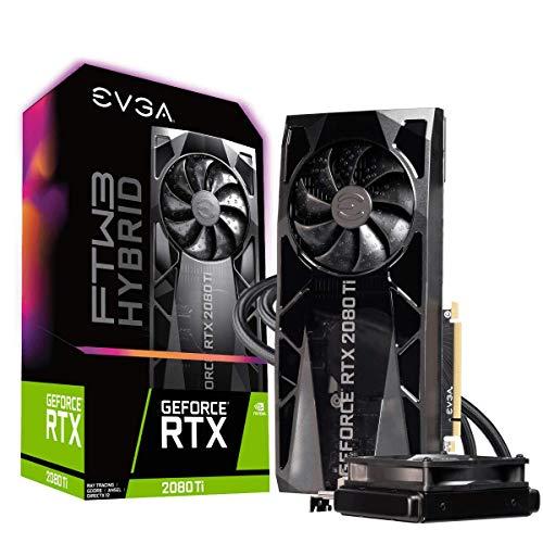 EVGA GeForce RTX 2080 TI FTW3 Ultra Hybrid Gaming, Carte Graphique 11G-P4-2484-KR, 11GB GDDR6, RGB LED Logo, iCX2 Technology, Metal Backplate