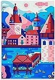 IOIP Lienzo De Impresión 60 * 90cm Sin Marco Cartel de Viaje de Suiza Cartel Cartel Decorativo Arte de Pared Carteles de Sala de Estar Dormitorio