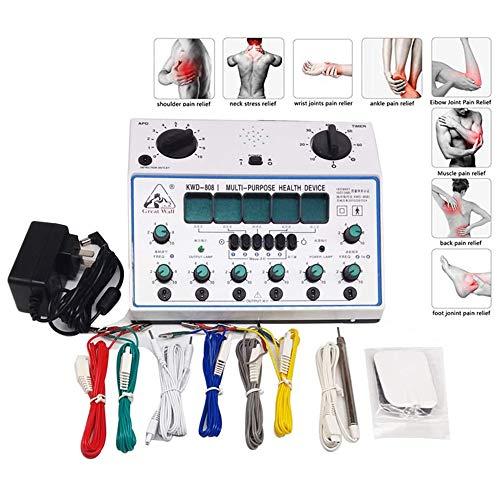 La acupuntura estimulador eléctrico de la máquina, kit de parches Massager del...