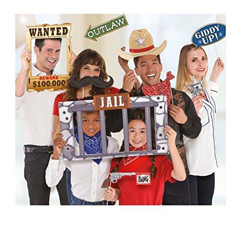 Amscan 399427 Fotorequisiten-Set Western 12-teilig