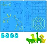 (Upgraded Version) 3D Pen Printer Mat, 16.8 x 8.2 Inches Large 3D Printing Pen Mat Silicone Basic Template with 4 Finger Protectors, 3D Pen Drawing Tools