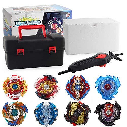 3T6B Burst Gyro con lanciatore, 8 trottole e 4 burst lanciatore, Adatti per la concorrenza multi-persona, il miglior regalo per bambini