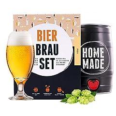 Bierbrouwset voor zelfbrouwen | Pils in een vat van 5 liter | Binnen 7 dagen gereed | Perfect cadeau voor mannen, vriend of vader | van Braufässchen*