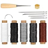 Stahl + Wachs Schnur Material, DIY Leder Bastelwerkzeuge, hat einen Fingerhut schützen Ihre Finger,