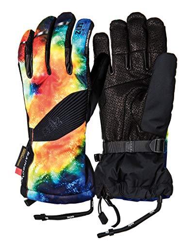 SEiZ Erwachsene Rainbow Handschuhe, Schwarz/Bunt, 9