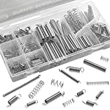 Katzco Compression and Extension Spring Assortment - 200 Piece Set of Heavy Duty and Durable Compressed Spring - Tools and Equipment, Hand Tools, Automotive, Replacement Parts