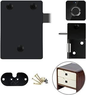 Cabinet Locks,Fingerprint Lock Cabinet Locks Biometric Keyless Wooden Box Furniture Drawer Fingerprint Locks Cabinet Lock,Suitable for Home &Office (Black)