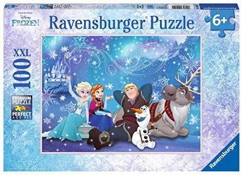 Ravensburger Italy- Disney Frozen L'Incanto del Ghiaccio Puzzle per bambini-100 Pezzi XXL, Multicolore, 10911