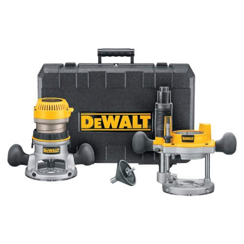DEWALT Router, Fixed/Plunge Base Combo Kit, 11-Amp, 1-3/4 HP, (DW616PK)