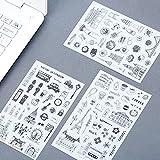 6 Stück/Pack Klassische Gebäude rund um das Wort Cartoon Aufkleber Tagebuch Aufkleber Sammelalbum Dekoration PVC Schreibwaren Aufkleber