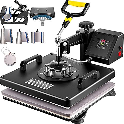 VEVOR Heat Press Machine 15'x15' 8 in 1 Combo Digital Multifunctional...