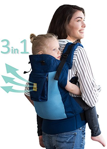 LÍLLÉbaby CarryOn Airflow 3-in-1 Ergonomic Toddler & Child Carrier, Blue/Aqua - 20 to 60 lbs