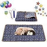 Hundedecke Kuscheldecke,104x75 Liegedecke für Hunde,Katzendecke mit Pfoten,Teppich Waschbar...