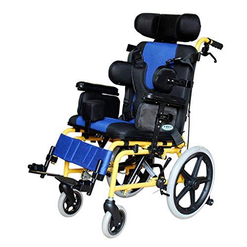 Adjustable Wheelchair, Lightweight Medical Ergonomic Half Lying Child Wheelchair Multi-Functional Wheelchair for Cerebral Palsy Children