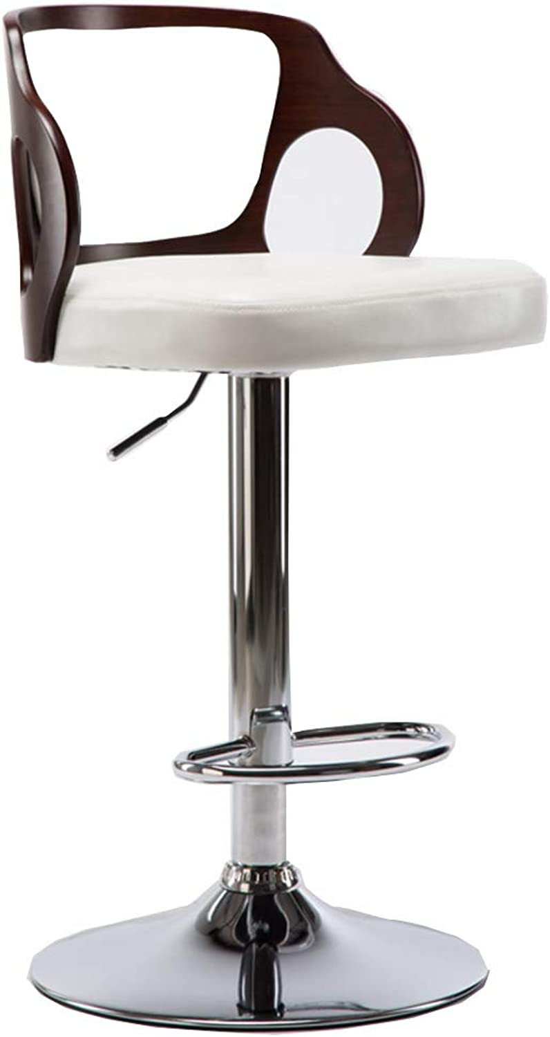 Barstools DOOST Modern Adjustable redating Bar Stool Chair Faux Leather - and Plastic Back Counter Height Stool for Indoor Family Bar Kitchen (Black  112cm)